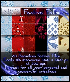 ABC Festive Fabrics 3D Models 2D Graphics Bez