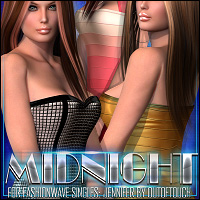 Midnight for FASHIONWAVE Singles: Jennifer 3D Models 3D Figure Assets ShanasSoulmate