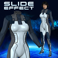 Slide3D Slide Effect for S3D Bodysuit 3D Models 3D Figure Assets Slide3D