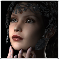 Amanda for V4 and Genesis 3D Figure Assets vyktohria