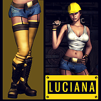 Luciana V4 3D Figure Essentials 3D Models Val3dArt