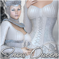 Snow Queen 3D Models 3D Figure Assets Silver