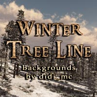 Winter Tree Line  2D 3D Models didi_mc