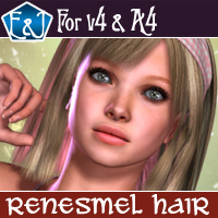Renesmel Hair For V4 And A4 Hair Software Themed EmmaAndJordi