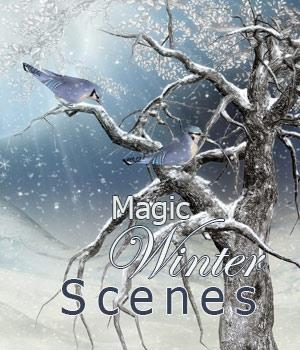 Magic Winter Scenes 3D Models 2D Graphics Makena