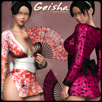 Geisha 3D Figure Essentials 3D Models mytilus