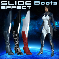 Slide3D Slide Effect Boots 3D Models 3D Figure Essentials Slide3D