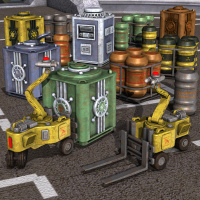 CargoJack And Containers by Nightshift3D