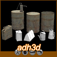 WW2 containers pack 3D Models adh3d
