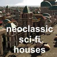 Neoclassic Sci-Fi Houses by rodluc2001