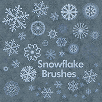 Snowflake Brushes 2D And/Or Merchant Resources Atenais