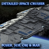 Allied Fleets Heavy Battle Cruiser - Poser,DAZ,OBJ,3DS,MAX 3D Models skynet3020