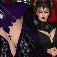Wicked Queen Outfit V4 3D Figure Assets nirvy