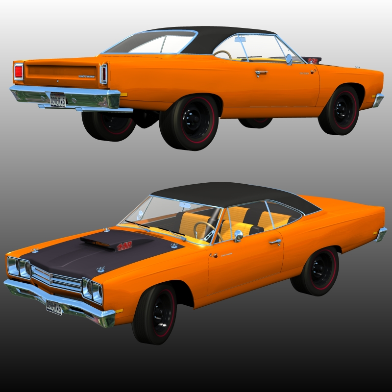 PLYMOUTH ROADRUNNER 1969 for Poser