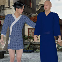 M4 Kimonos 3D Figure Essentials Lyrra