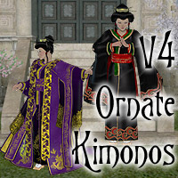 V4 Ornate Kimonos 3D Figure Essentials Lyrra