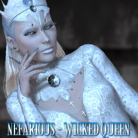 Nefarious - Wicked Queen 3D Figure Assets 3D Models kaleya