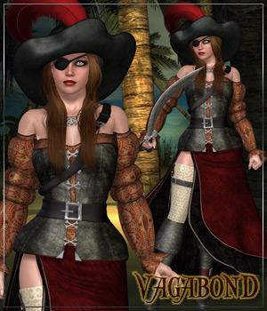 VAGABOND for Lady Somalia 3D Figure Assets Anagord
