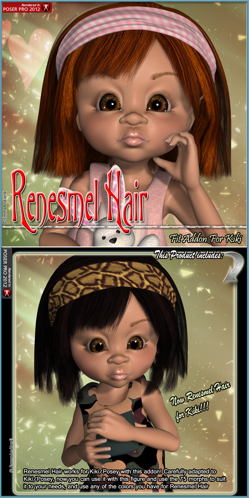 Kiki Fit Addon For Renesmel Hair