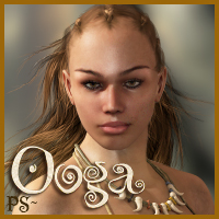 PS-Ooga for V4 3D Figure Assets 3D Models pixeluna