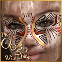 PS-Ooga Wild Thing for V4 3D Figure Assets 3D Models pixeluna