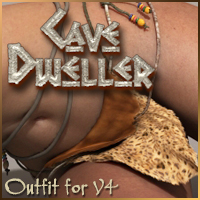 CaveDweller Clothing for V4 3D Figure Assets pixeluna