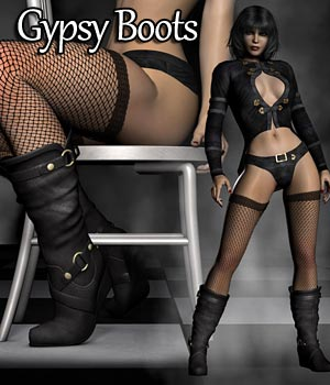 Gypsy Boots 3D Figure Assets RPublishing