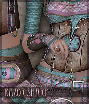 Razor Sharp for Running With Scissors 3D Figure Assets Sveva