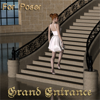 Grand Entrance For Poser 3D Models nikisatez