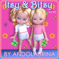 Itsy and Bitsy for Kit 3D Figure Assets andolaurina