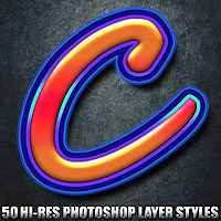 Candy - Photoshop Styles 2D 3D Models designfera