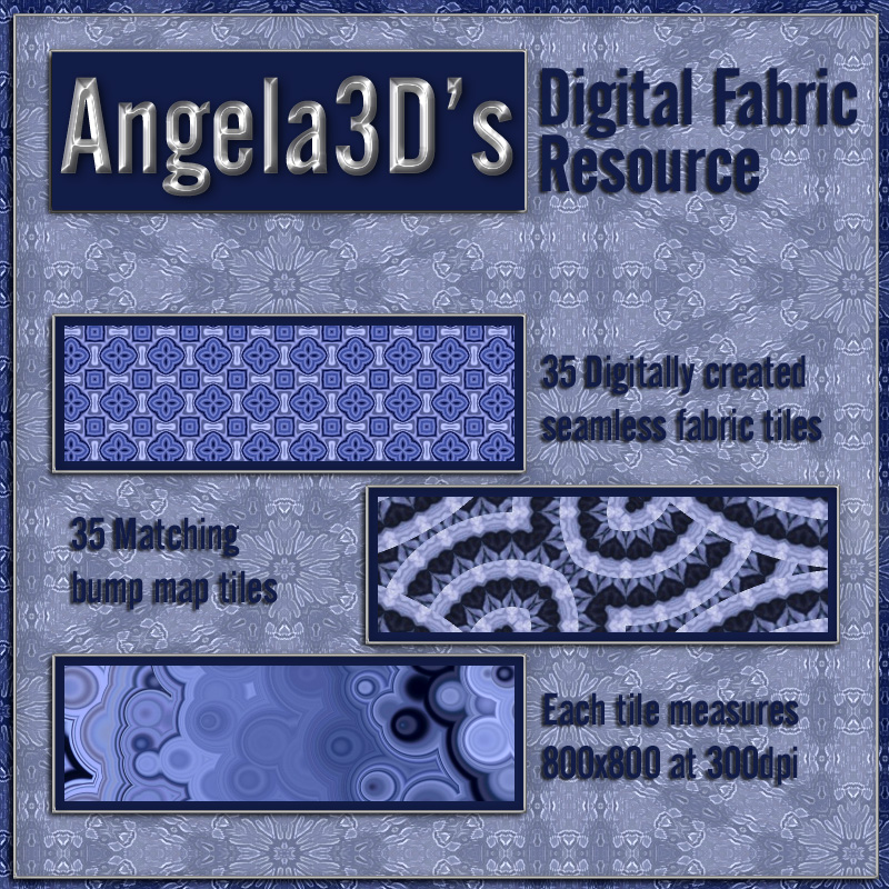 Angela3D Digital Fabric Resource - Set 1
