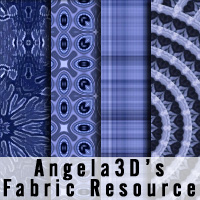 Angela3D Digital Fabric Resource - Set 1 2D And/Or Merchant Resources Angela3D