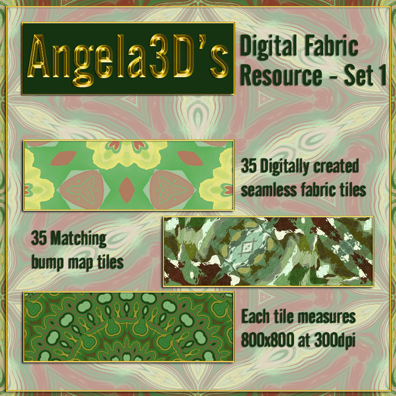 Angela3D Digital Fabric Resource - Set 2