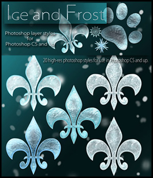 Ice and Frost 2D Graphics antje