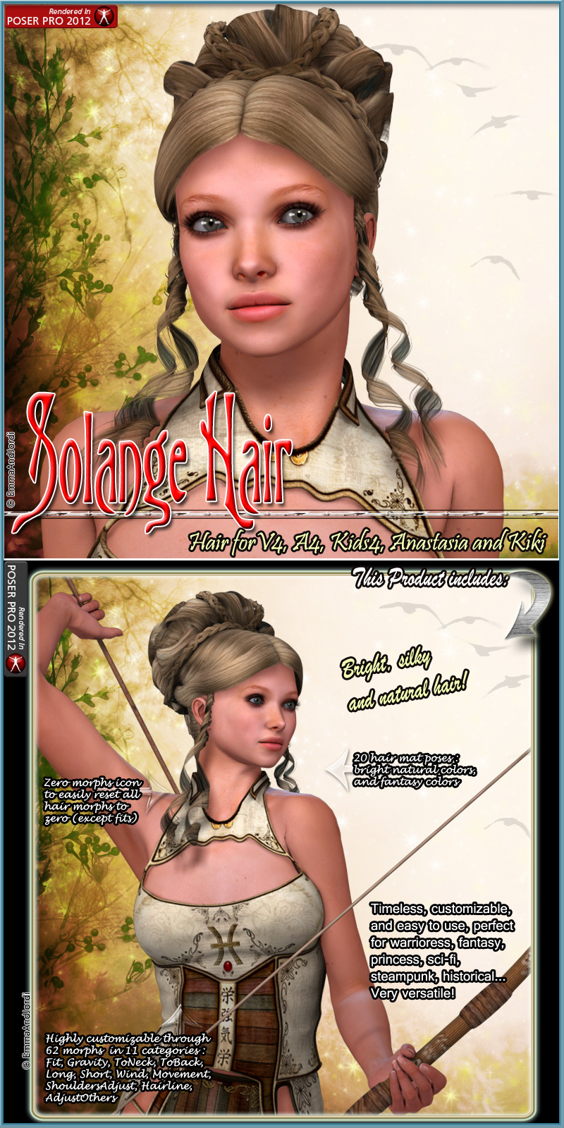 Solange Hair For V4 A4 K4 Anastasia Kiki