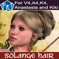 Solange Hair For V4 A4 K4 Anastasia Kiki Hair Themed Software EmmaAndJordi
