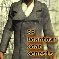 SF Downtown Coat G 3D Figure Assets SickleYield
