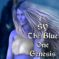 SY The Blue One Genesis 3D Figure Assets SickleYield