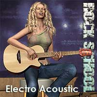 Rock School Electro Acoustic Guitar Software Props/Scenes/Architecture Themed Simon-3D