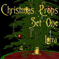 Christmas Props: Set1 3D Models Lyrra