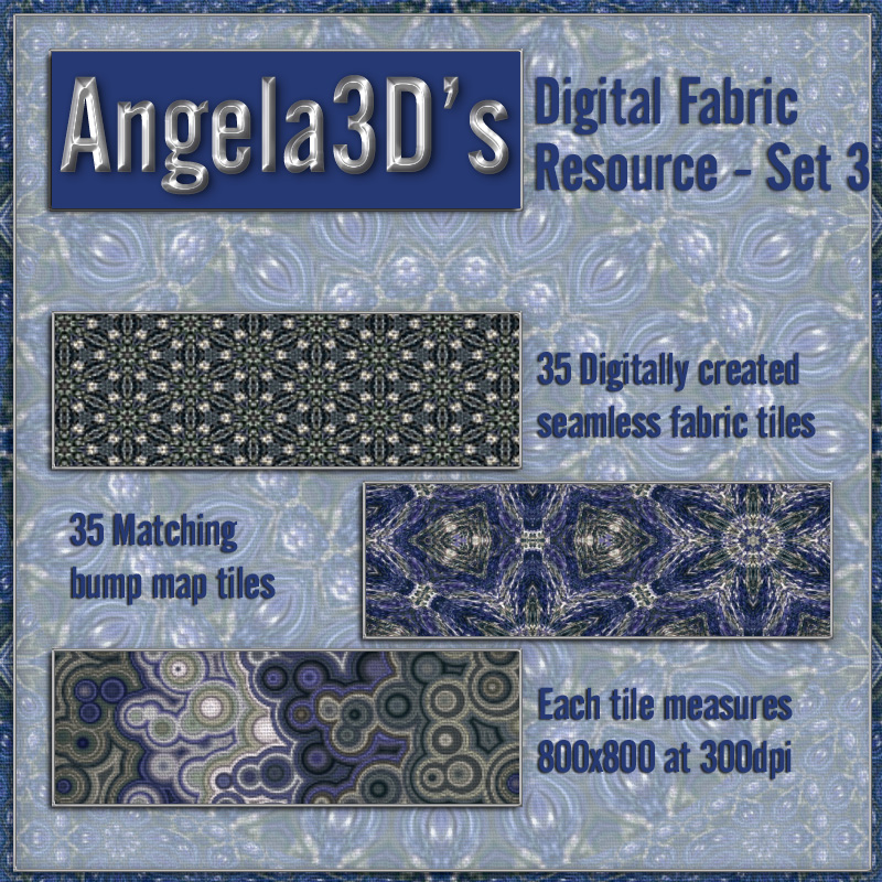 Angela3D Digital Fabric Resource - Set 3