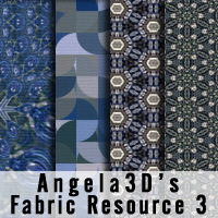 Angela3D Digital Fabric Resource - Set 3 2D And/Or Merchant Resources Angela3D