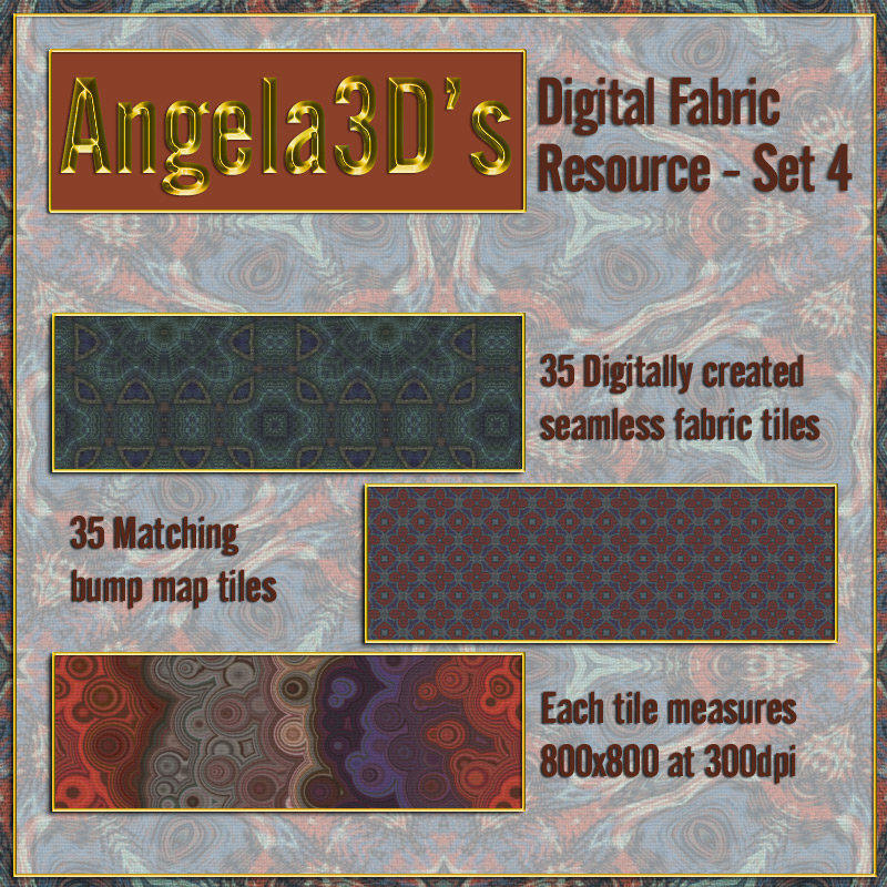 Angela3D Digital Fabric Resource - Set 4