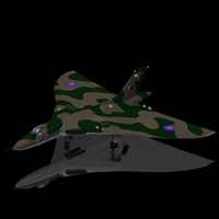 Avro Vulcan (for Poser) Themed Transportation Digimation_ModelBank
