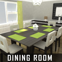 Dining Room Props/Scenes/Architecture Software Themed TruForm