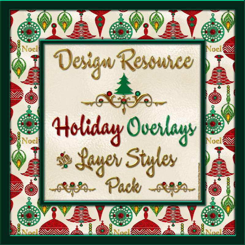 Design Resource: Holiday Overlays & Layer Styles Pack