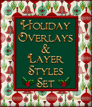 Design Resource: Holiday Overlays & Layer Styles Pack 2D Graphics fractalartist01