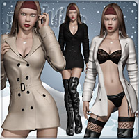 Hot Winter IV Clothing Footwear Pretty3D