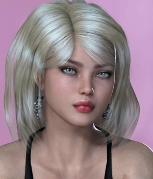 Mina Hair for V4 3D Figure Assets SWAM
